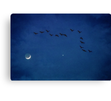 Fly Me to the Moon... and Venus Canvas Print