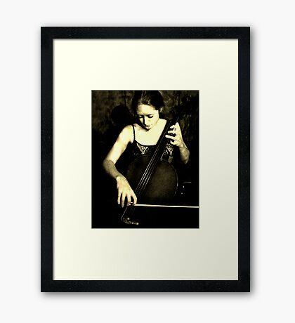 Beautiful Cellist Framed Print