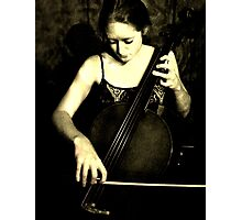 Beautiful Cellist Photographic Print