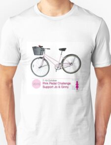 Pink Pedal Challenge 2015 - Support Jo and Ginny Unisex T-Shirt