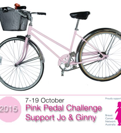 Pink Pedal Challenge 2015 - Support Jo and Ginny Sticker