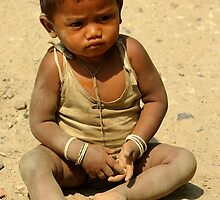 Small child, Assam by John Mitchell