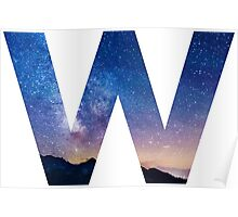 The Letter W - night sky Poster