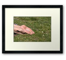 barefoot in the park Framed Print