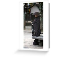 Monk in Hiroshima  Greeting Card