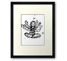 Hindu Jesus Scribble Doodle Framed Print