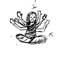 Hindu Jesus Scribble Doodle Photographic Print