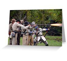 Gunfire Greeting Card
