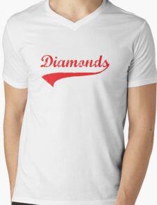 Diamonds Mens V-Neck T-Shirt
