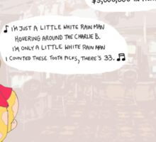 Rain Man + Winnie the Pooh Sticker