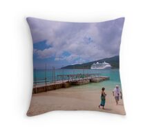 Radiance of the Seas, Mystery Island A Throw Pillow