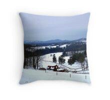snow magic Throw Pillow