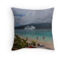 Radiance of the Seas, Mystery Island B Throw Pillow