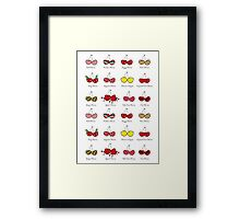 Oh My Cheeky Cherries! Framed Print