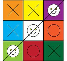 Tic Tac Toe Photographic Print