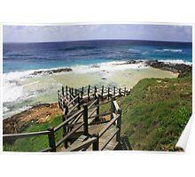 Champagne Pools Fraser Island Poster