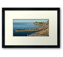 Beaumaris Bay Panorama Framed Print