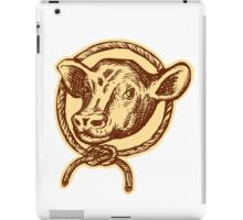 Cow Bull Head Rope Circle Etching iPad Case/Skin