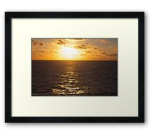 Sunset over the South Pacific Framed Print
