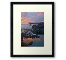 Sunset in Perth Framed Print