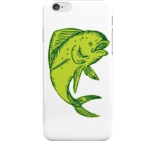 Dolphin Fish Jumping Etching iPhone Case/Skin