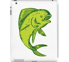 Dolphin Fish Jumping Etching iPad Case/Skin
