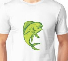 Dolphin Fish Jumping Etching Unisex T-Shirt