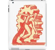 Factory Worker Rolling Cog Wheel Etching iPad Case/Skin