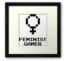Feminist Gamer Framed Print