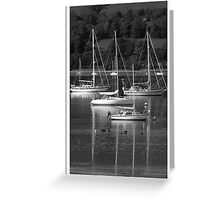 Yachts on the  Gareloch Greeting Card