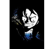 angry luffy grunge sign Photographic Print
