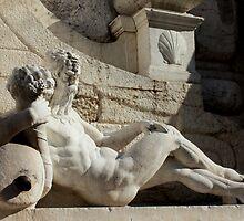 Statue of fountain of Torre della Pallata in Brescia by annalisa bianchetti