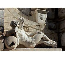 Statue of fountain of Torre della Pallata in Brescia Photographic Print