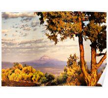Sunrise on Mount Jefferson Poster