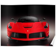 Ferrari F150 LaFerrari supercar sports car front view on black art photo print Poster
