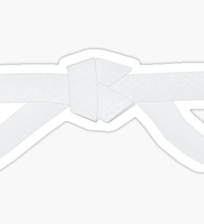 Judo White Belt Sticker