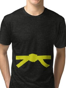 Judo Yellow Belt Tri-blend T-Shirt