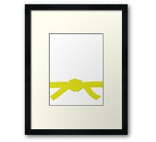 Judo Yellow Belt Framed Print