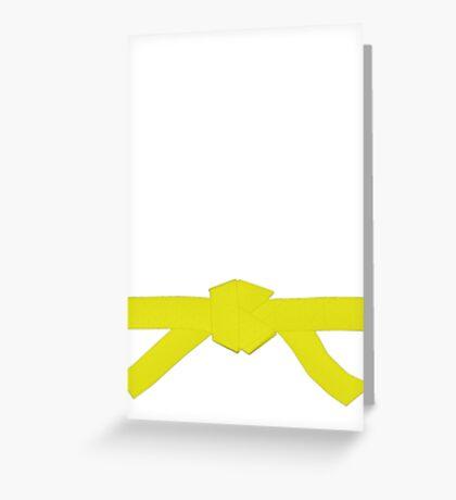 Judo Yellow Belt Greeting Card