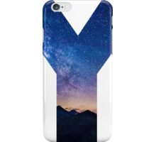 The Letter Y - night sky iPhone Case/Skin