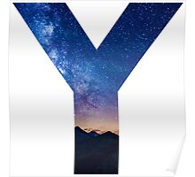 The Letter Y - night sky Poster