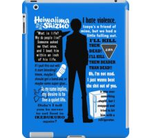 Heiwajima Shizuo Quotes iPad Case/Skin