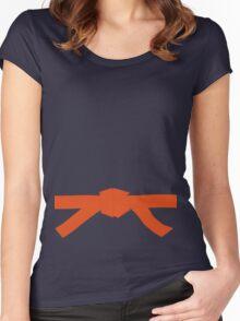 Judo Orange Belt Women's Fitted Scoop T-Shirt