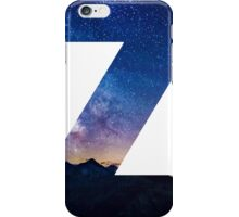 The Letter Z - night sky iPhone Case/Skin