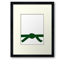 Judo Green Belt Framed Print