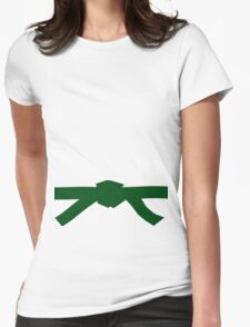 Judo Green Belt Womens Fitted T-Shirt