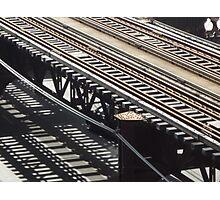 Train track shadows Photographic Print