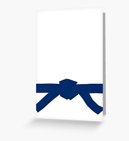 Judo Blue Belt Greeting Card