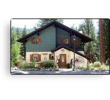 Lovely chalet Canvas Print