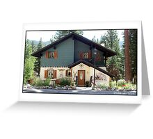 Lovely chalet Greeting Card